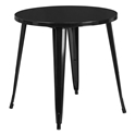 "Canfield 30"" Round Black Modern Outdoor Dining Table"