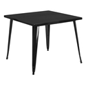 "Canfield 36"" Black Square Modern Outdoor Dining Table"