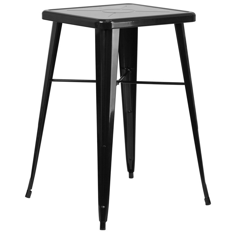Canfield Modern Black Outdoor Bar Table