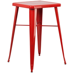 Canfield Modern Red Outdoor Bar Table