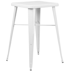 Canfield Modern White Outdoor Bar Table