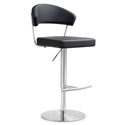 Cannes Modern Black Adjustable Height Stool