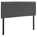 Cannes Contemporary Gray Fabric Headboard