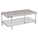Cantrell Modern Faux Marble Top Coffee Table