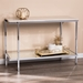 Cantrell Contemporary Faux Marble Sofa Table