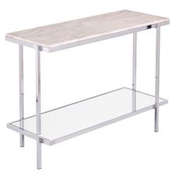 Cantrell Modern Faux Marble Top Console Table
