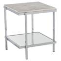 Cantrell Modern Faux Marble Top End Table
