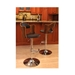 Canute Adjustable Walnut + Leatherette Modern Bar Stool