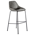 Corinna Modern Bar Stool in Dark Gray by Euro Style