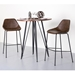 Corinna Contemporary Brown Counter Stools