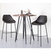 Corinna Contemporary Gray Counter Stools