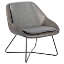 Corinna Modern Lounge Chair in Dark Gray