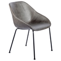 Corinna Modern Side Chair in Dark Gray by Euro Style