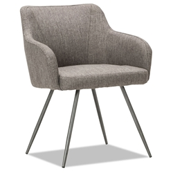 Capstone Modern Gray Tweed Guest Chair