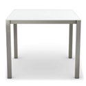 Carbon Modern Dining Table w/ Ultra White Glass by Amisco