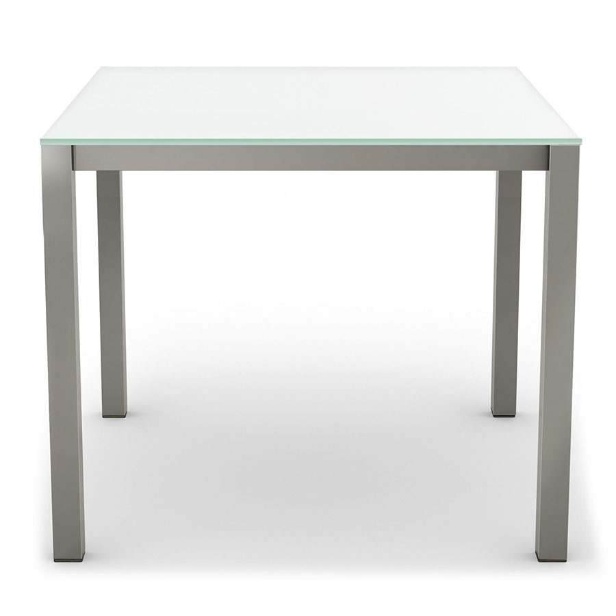 Call To Order · Carbon Modern Dining Table W/ White Glass By Amisco