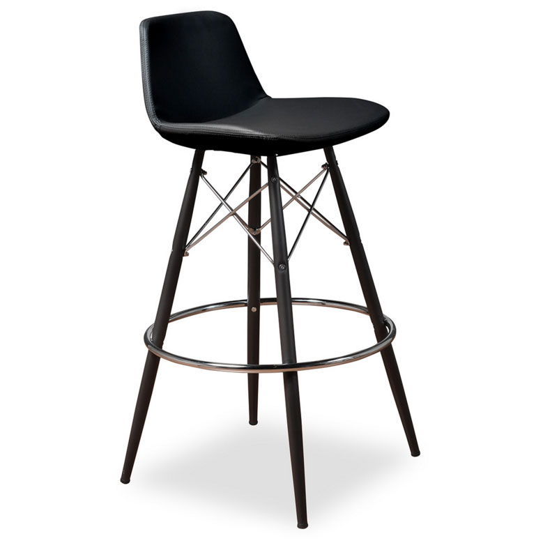 Cardiff Modern Classic Bar Stool in Black Leatherette