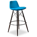 Cardiff Modern Classic Bar Stool in Turquoise Wool