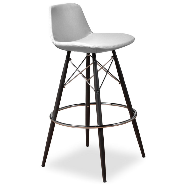 Cardiff Modern Classic Bar Stool in White Leatherette