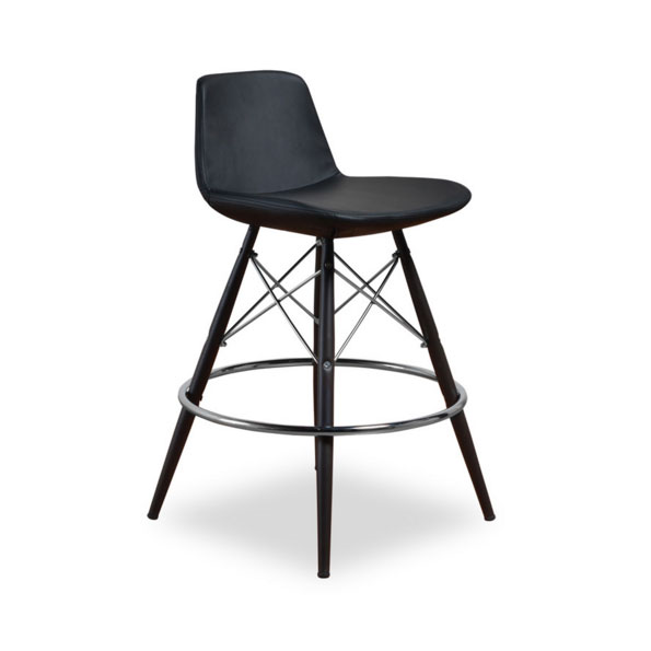 Bon Call To Order · Cardiff Modern Classic Counter Stool In Black Leatherette