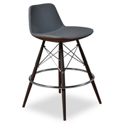 Cardiff Modern Classic Counter Stool in Gray Leatherette