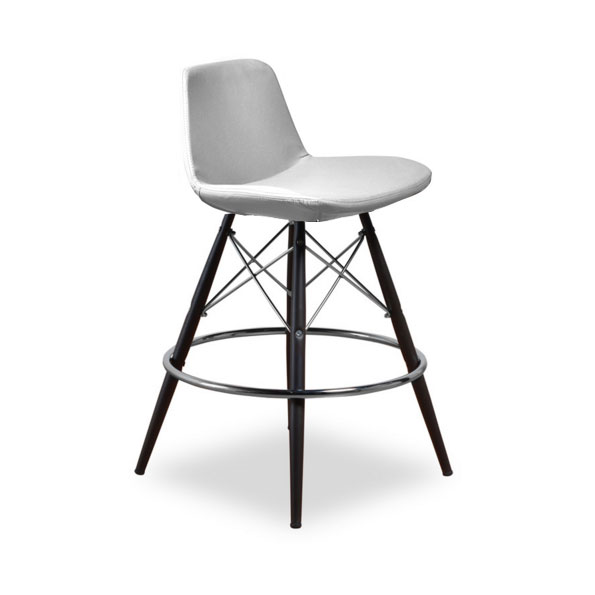 Cardiff Modern Classic Counter Stool in White Leatherette