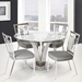Cardin Contemporary Stainless Steel + Glass Dining Table