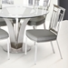 Cardin Gray Faux Leather + Steel Dining Chair