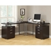 Carey Cappuccino Modern L-Desk Room