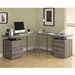Carey Dark Taupe Modern L-Desk Room