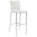 Carter Modern White Bar Stool