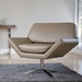 Chevron Contemporary Lounge Chair in Taupe