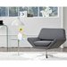 Chevron Gray Contemporary Lounge Chair