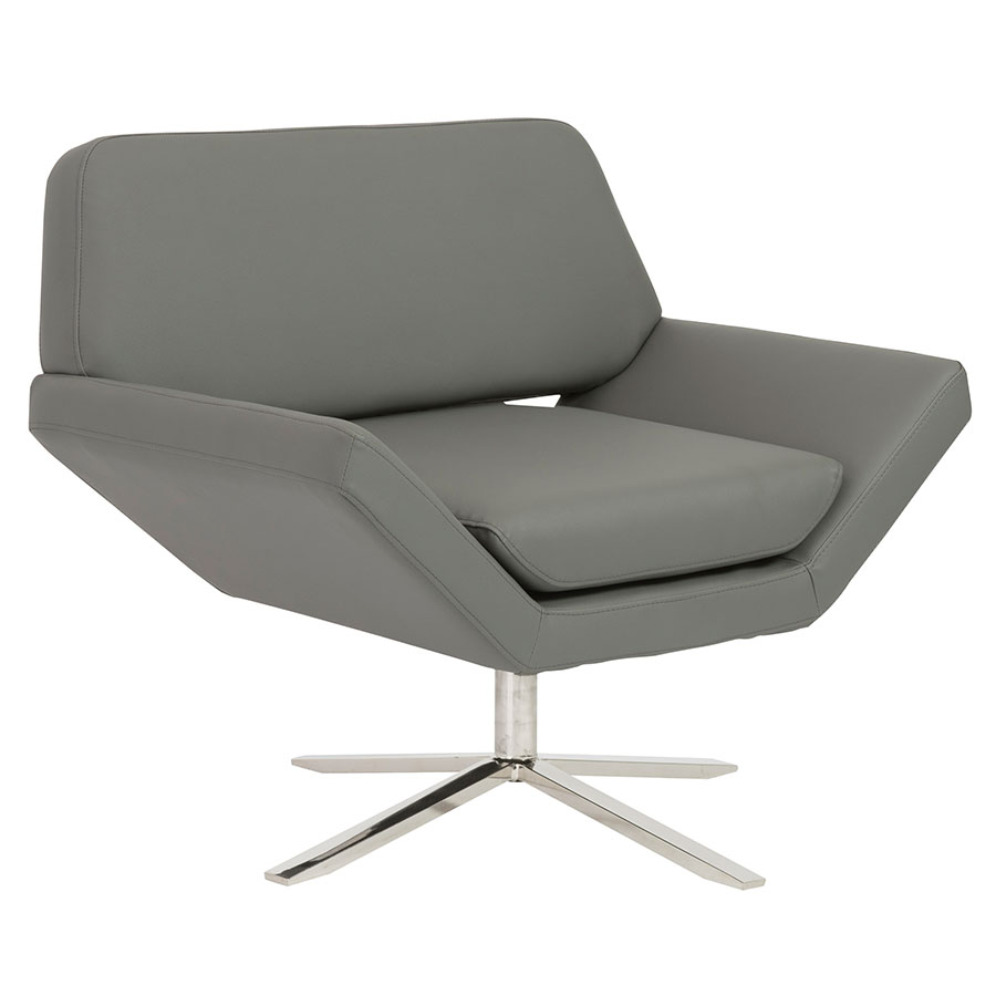 Carlotta Modern Gray Lounge Chair