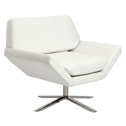 Carlotta Modern White Lounge Chair