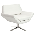 Chevron Modern White Lounge Chair
