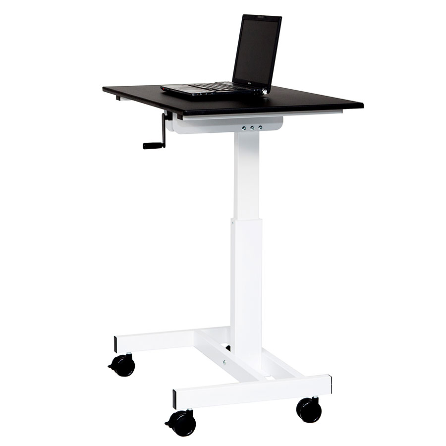 stand standing tier inch up desk adjustable superland x pin strengthen computer