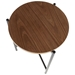 Carlson Modern Round Walnut + Black End Table - Top View