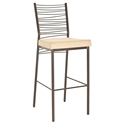 Carly Modern Bar Stool - Sienna Metal Finish