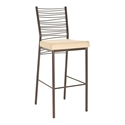 Crescent Modern Counter Stool - Sienna Metal Finish by Amisco