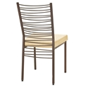 Crescent Modern Dining Chair - Sienna Finish by Amisco