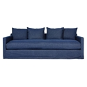 Gus* Modern Carmel Sofa In Washed Denim Indigo Slipcover + Cushion Cases