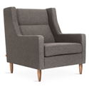 Gus* Modern Carmichael Contemporary Arm Chair in Bayview Osprey Fabric Upholstery