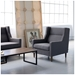 Carmichael Contemporary Lounge Chair in Totem Storm - Lifestyle
