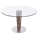 Carmine Modern Walnut + Glass Dining Table