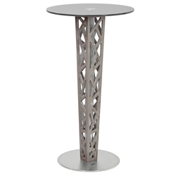 Carmine Modern Gray Walnut Bar Height Pub Table