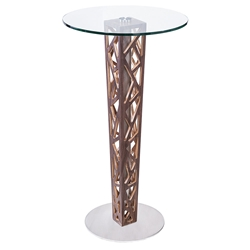 Carmine Modern Walnut Bar Height Pub Table