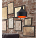 Carmine Black Contemporary Hanging Lamp