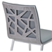 Carmine Faux Leather + Gray Walnut Dining Chair - Seat Back Detail
