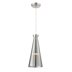 Carolina Chrome Glass Modern Pendant Lamp